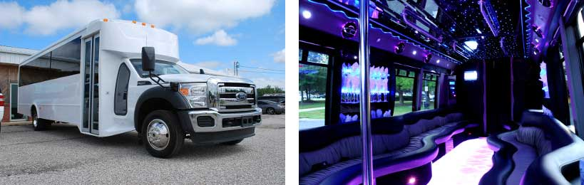 20 passenger party bus Madison