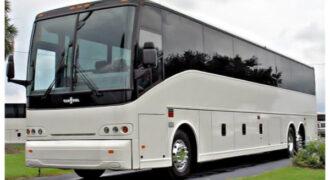50 passenger charter bus Madison